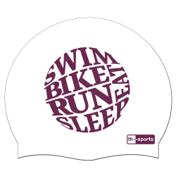 Triathleten swim bike run sleep eat -  Silikonbadekappe