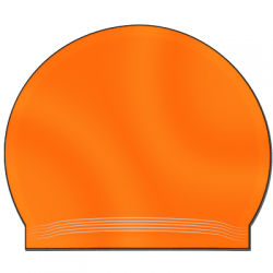 Latexbadekappe orange
