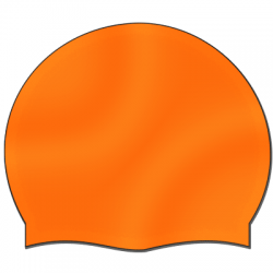 Silikonbadekappe orange